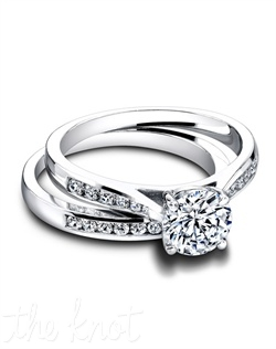 3266 &amp; 3266/B (ring 0.20ct ttl; band 0.20ct ttl) Chic, striking Talya. Our Talya Engagement Ring&#39;s round diamonds are set into uniquely tapered channel s, to draw all eyes to your center stone. The matching band fits beside it seamlessly, and brings a balanced simplicity that makes everything it touches more graceful and lovely. We can craft Talya to fit any size and shape center stone. Hand crafted in either Platinum, 18K or 14k Gold.
