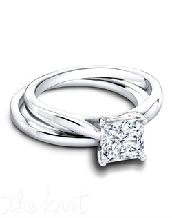 3269 & 3263/B (ring 1ct ttl ; band 0.20ct ttl ) Love is forever. And so is the Tess Princess Wedding Set, the very embodiment of grace and femininity. The Tess Wedding Band is a simple and chic partner with its own luminous glow. The Tess Princess Engagement Ring is a classic, romantic silhouette. Customize Tess with any stone you desire, virtually every cut you can imagine looks amazing. Hand crafted in either Platinum, 18k or 14k Gold.