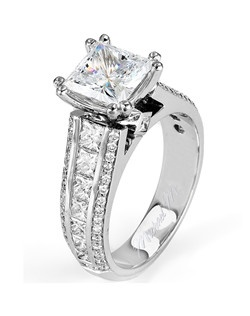 Platinum MICHAEL M engagement ring featuring 1.58 ct G,VS diamonds. Also available in 18K White, Yellow and Rose Gold.