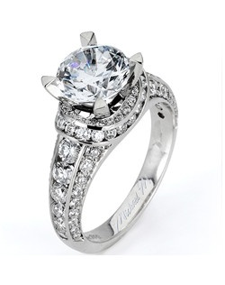 Platinum MICHAEL M engagement ring featuring 1.18 ct G,VS diamonds. Also available in 18K White, Yellow and Rose Gold.