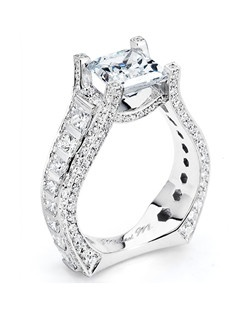 Platinum MICHAEL M engagement ring featuring 2.40 ct G,VS diamonds. Also available in 18K White, Yellow and Rose Gold.