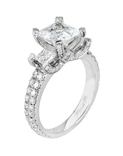 Platinum MICHAEL M engagement ring featuring 1.50 ct G,VS diamonds. Also available in 18K White, Yellow and Rose Gold.