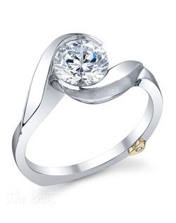 Shown with a 1ct center diamond. Beautiful diamond solitaire. Available in yellow, white, or rose gold, and platinum. Rings can be custom made to fit any size or shape diamond or color center stone. Center stone sold separately.