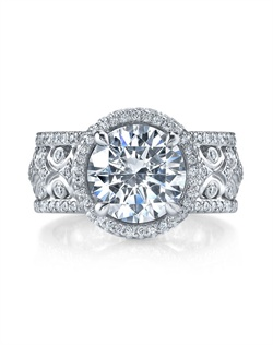 18K White Gold MICHAEL B. QUINTESSA Engagement Ring is a modern spin on a classic design. Ring can be made in 18K White, Yellow, or Rose Golds (or any combination of the two) for a truly unique look! All MICHAEL B. engagement rings are hand-crafted in Studio City, CA, using the finest of materials and for the exact dimensions of your center stone.