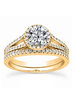 Contemporary diamond engagement ring features 0.45 ct. tw. GH-SI1 diamonds.This engagement ring is available in white gold, yellow gold, platinum or palladium.