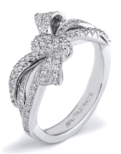Reminiscent of sheer femininity, this fashion ring designed by TRUE KNOTS&#174; for The Knot Collection is sensual and inspired by the warmth of an embrace. Sparkling with 0.38tcw of diamonds, it&#39;s sure to be a show stopper. Available in platinum and gold.