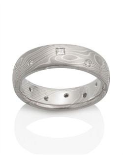 Palladium 950, 14k palladium white gold, silver, .25 TCW white diamonds