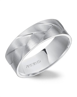7.0mm wide, woven Men's wedding band with satin finish. Available in Platinum, 18K White or Yellow Gold, 14K White or Yellow Gold or Palladium. Wade