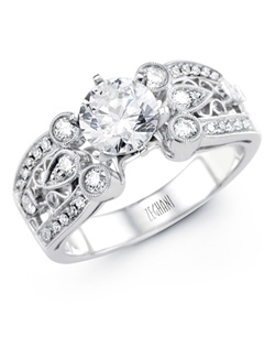 14K white gold ring comprised of 0.36ctw round white Diamonds.