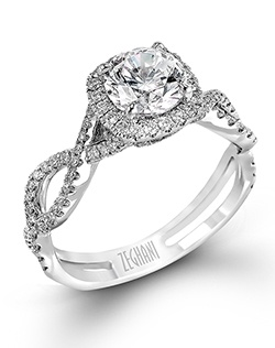 14K white gold ring comprised of 0.40ctw round white Diamonds.