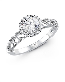 14K white gold ring comprised of 0.08ctw round white Diamonds.