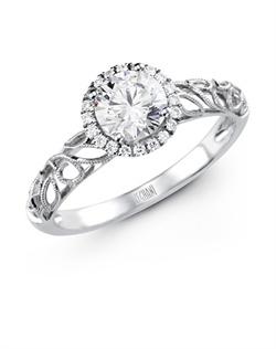 14K white gold ring comprised of 0.08ctw round white Diamonds.