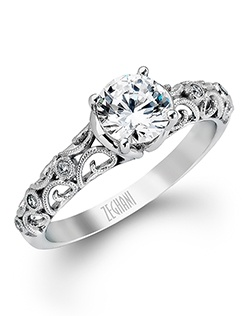 14K white gold ring comprised of 0.04ctw round white Diamonds.