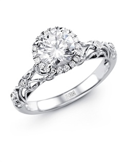14K white gold ring comprised of 0.17ctw round white Diamonds.