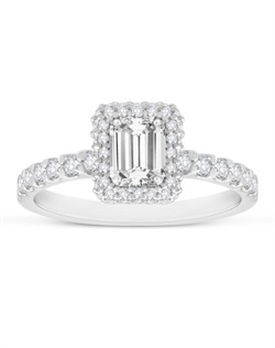 She will be smitten with this gorgeous ring with emerald cut center.