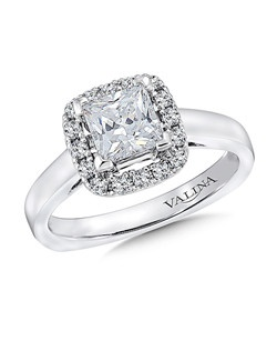 14K White Gold Semi-mount feautiring .25ct natural white diamonds