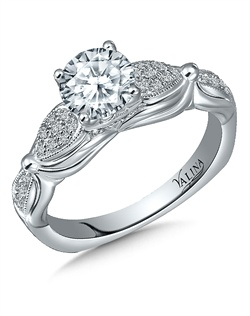 14K White Gold Semi-mount feautiring .21ct natural white diamonds
