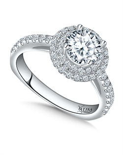 14K White Gold Semi-mount feautiring .41ct natural white diamonds