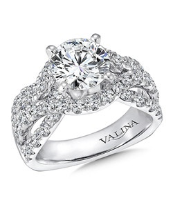 14K White Gold Semi-mount feautiring 1.69ct natural white diamonds