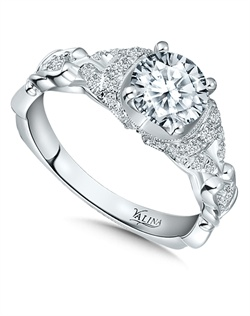 14K White Gold Semi-mount feautiring .28ct natural white diamonds