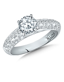 14K White Gold Semi-mount feautiring .24ct natural white diamonds