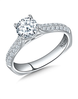 14K White Gold Semi-mount feautiring .33ct natural white diamonds