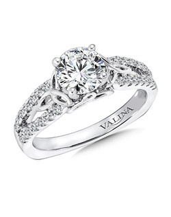 14K White Gold Semi-mount feautiring .26ct natural white diamonds