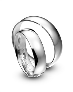 ArtCarved Dome platinum wedding bands.<BR><BR>