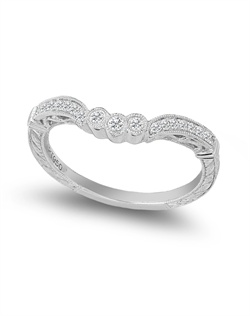 Gabriel & Co. platinum and diamond wedding band from the Amavida Collection.<BR><BR>Facebook: https://www.facebook.com/jewelryplatinum?fref=ts