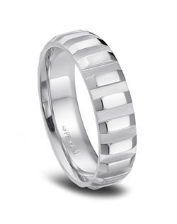 Phyllis Bergman platinum channel wedding band for him.<BR><BR>Facebook: https://www.facebook.com/jewelryplatinum?fref=ts