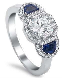 Ring .20ct. dia, .60ct. Sapph