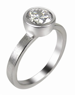 This 14kt White Semi-Mount is shown with a 1ct diamond center. Available in 14/18k white, yellow, or rose gold, platinum, or palladium. Ring can be customized to fit any size/shape diamond or gemstone center. Center stone sold separately.