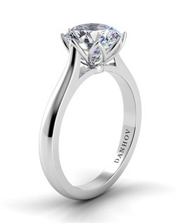 18k white gold setting, does not include center stone