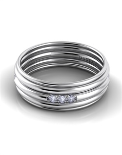 18k white gold men's band with .25tcw of diamonds