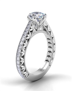 Platinum setting with .54tcw of diamonds, does not include center stone