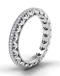 Platinum wedding band with .29tcw of diamonds