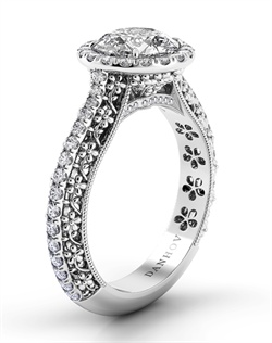 Platinum setting with .42tcw of diamonds, center stone not included