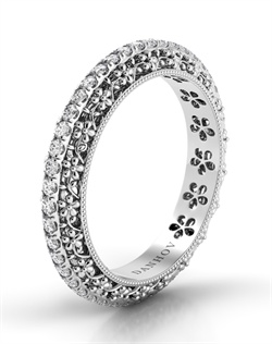 Platinum wedding band with .42tcw of diamonds