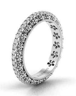 Platinum wedding band with .42tcw of diamonds