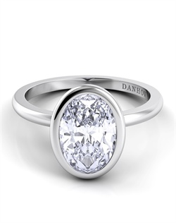 Platinum engagement ring setting, center stone is not included