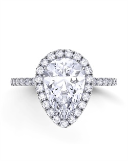 Platinum engagement ring setting with .43tcw of diamonds, center stone is not included