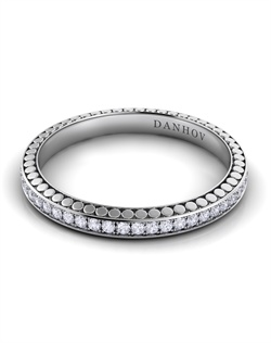 Platinum ladies' wedding band with .27tcw of diamonds