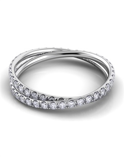 Platinum braided wedding band with .4tcw of diamonds
