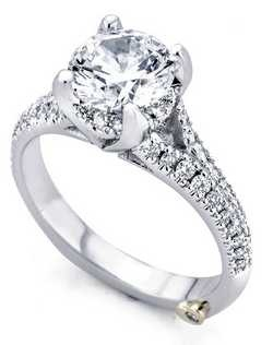 The Kindle engagement ring contains 53 diamonds, totaling 0.325ctw.