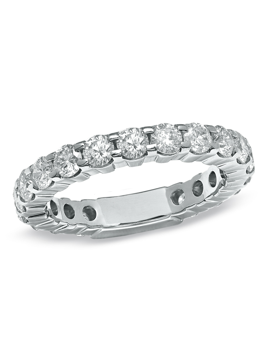 A beautiful expression of love everlasting, this 2 ct. t.w. diamond eternity band is perfectly lined in round diamond accents. Give her the romantic 14K white gold gift on your wedding day, anniversary or just because she's special to you.