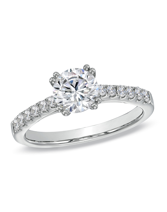 Celebration Fire Collection 1 1 4 CT T W Round Cut Classic Engagement Ring