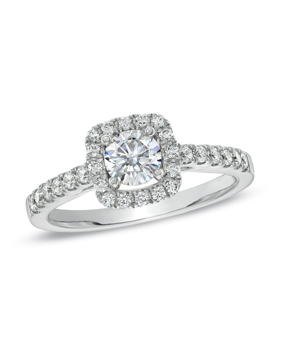 Take her breath away with this absolutely stunning Celebration Fire™ 7/8 ct. t.w. diamond engagement ring. Fashioned in 14K white gold, this exquisite ring showcases a magnificent 1/2 ct. certified Celebration Fire™ diamond center stone, boasting a color rank of H-I and clarity of SI1-SI2. Master craftsmen cut 71 precise facets that create a pattern of ten hearts and ten arrows on every Celebration Fire™ diamond. This exceptional diamond stands atop a shank that is prong-set with additional round accent diamonds, completing this captivating design. This ring arrives with a certificate that includes a photo and a description of the diamond. The certificate guarantees quality and can be used for insurance purposes