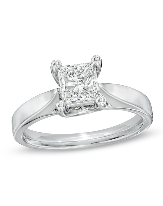 Celebration Diamond Collection at Zales Celebration Grand 1 CT Princess Cut
