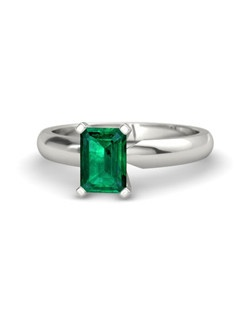 A classic, four-prong setting is the perfect way to display this showstopper, emerald-cut gem. This piece is carefully handcrafted in your choice of 21 gemstones and 9 precious metals.