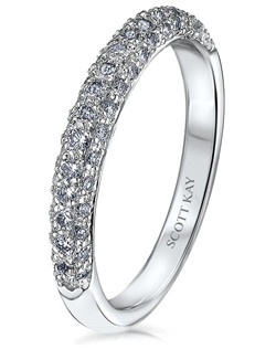 Scott Kay's matching bands are also available in Platinum, 18k white gold, 18K yellow gold, 14K yellow gold, and palladium.  Like us on Facebook: https://www.facebook.com/scottkayusa       Follow us on Twitter: @scottkay
